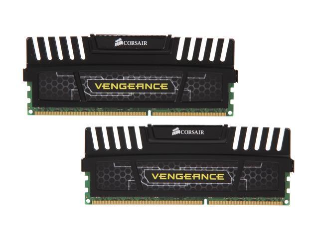 CORSAIR Vengeance 8GB (2 x 4GB) 240-Pin DDR3 SDRAM DDR3 1600 (PC3 12800) Desktop Memory Model CMZ8GX3M2A1600C9