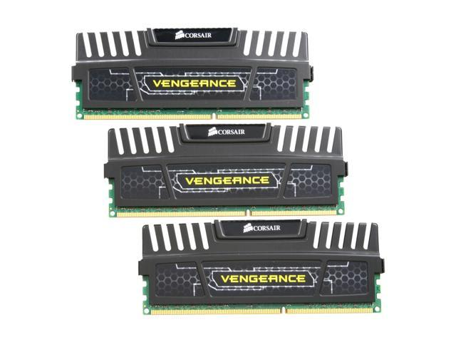 CORSAIR Vengeance 12GB (3 x 4GB) 240-Pin DDR3 SDRAM DDR3 1600 (PC3 12800) Desktop Memory Model CMZ12GX3M3A1600C9