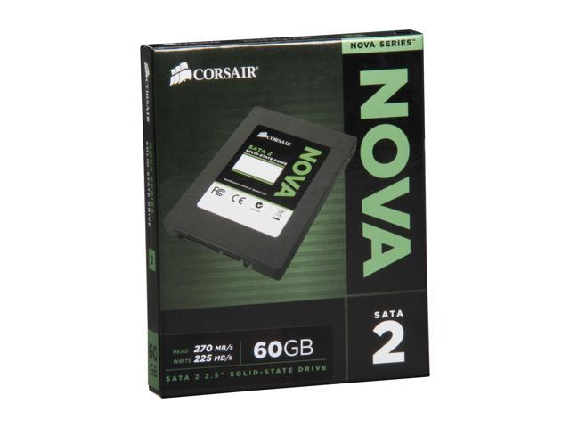 "Corsair Nova Series 2 2.5"" 60GB SATA II Internal Solid State Drive (SSD) CSSD-V60GB2"