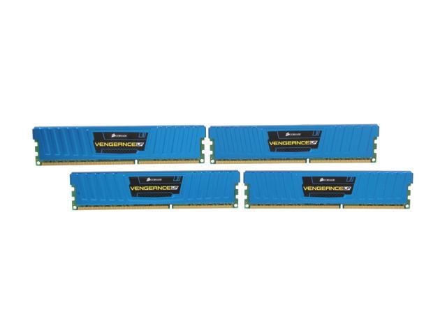 CORSAIR Vengeance LP 16GB (4 x 4GB) 240-Pin DDR3 SDRAM DDR3 1600 (PC3 12800) Desktop Memory Model CML16GX3M4A1600C9B
