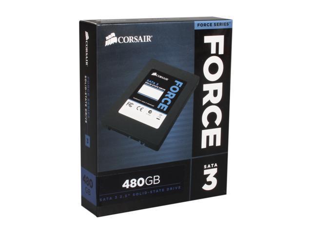"""Corsair Force Series 3 2.5"""" 480GB SATA III Internal Solid State Drive (SSD) CSSD-F480GB3-BK"""