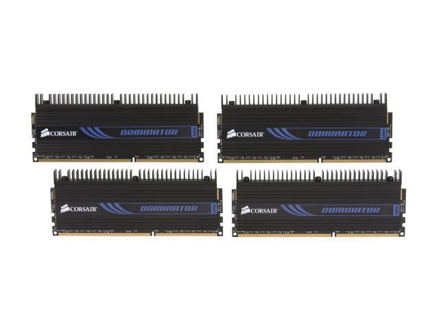 CORSAIR DOMINATOR 32GB (4 x 8GB) 240-Pin DDR3 SDRAM DDR3 1600 (PC3 12800) Desktop Memory Model CMP32GX3M4X1600C10