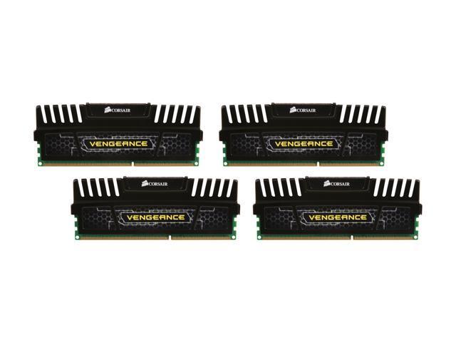 CORSAIR Vengeance 8GB (4 x 2GB) 240-Pin DDR3 SDRAM DDR3 1600 (PC3 12800) Desktop Memory Model CMZ8GX3M4X1600C9