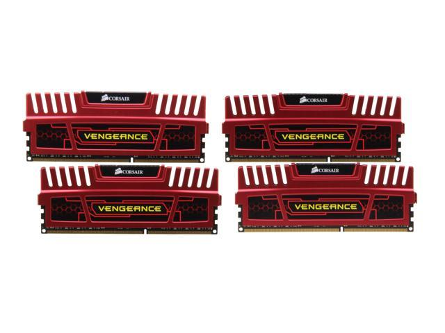 CORSAIR Vengeance 16GB (4 x 4GB) 240-Pin DDR3 SDRAM DDR3 1866 (PC3 14900) Desktop Memory Model CMZ16GX3M4X1866C9R