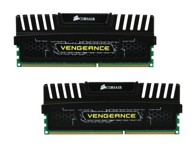 CORSAIR Vengeance 16GB (2 x 8GB) 240-Pin DDR3 SDRAM DDR3 1600 (PC3 12800) Desktop Memory Model CMZ16GX3M2A1600C10