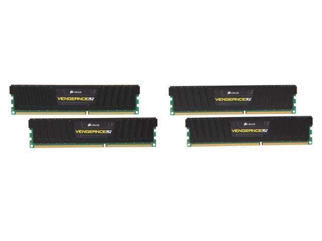CORSAIR Vengeance 16GB (4 x 4GB) 240-Pin DDR3 SDRAM DDR3 1600 (PC3 12800) Desktop Memory Model CML16GX3M4X1600C7
