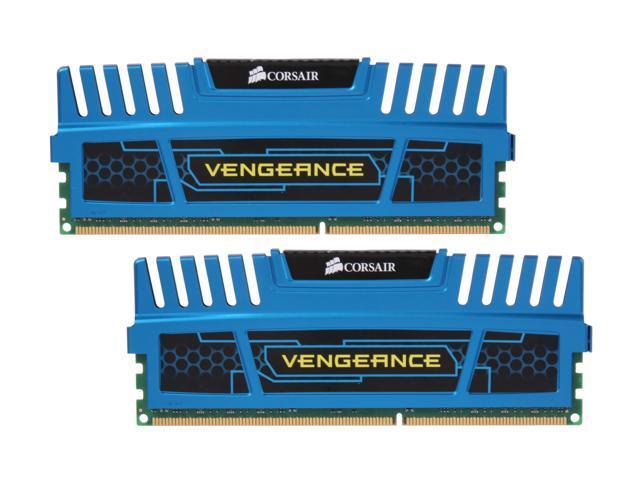 CORSAIR Vengeance 8GB (2 x 4GB) 240-Pin DDR3 SDRAM DDR3 1600 (PC3 12800) Desktop Memory Model CMZ8GX3M2X1600C8B