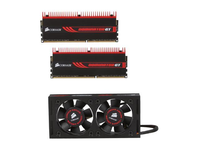 CORSAIR DOMINATOR GT 8GB (2 x 4GB) 240-Pin DDR3 SDRAM DDR3 2133 Desktop Memory with Airflow Fan Model CMT8GX3M2B2133C9