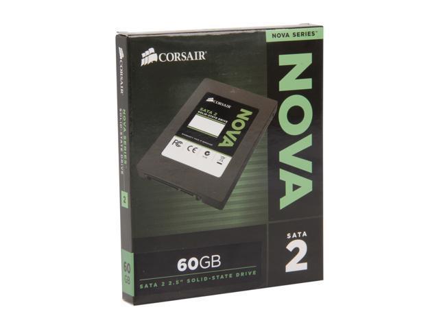 "Corsair Nova Series 2 2.5"" 60GB SATA II Internal Solid State Drive (SSD) CSSD-V60GB2A"