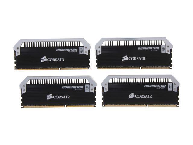 CORSAIR Dominator Platinum 16GB (4 x 4GB) 240-Pin DDR3 SDRAM DDR3 1866 (PC3 14900) Desktop Memory Model CMD16GX3M4A1866C9