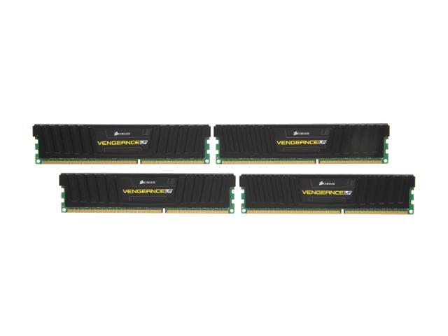 CORSAIR Vengeance LP 16GB (4 x 4GB) 240-Pin DDR3 SDRAM DDR3 1866 Desktop Memory Model CML16GX3M4A1866C9