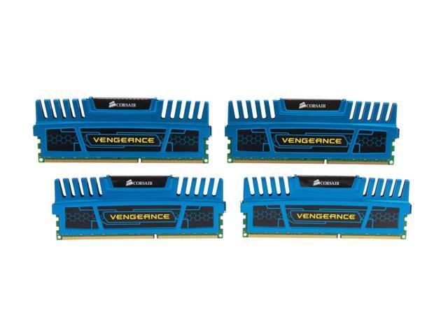 CORSAIR Vengeance 16GB (4 x 4GB) 240-Pin DDR3 SDRAM DDR3 1866 Desktop Memory Model CMZ16GX3M4A1866C9B