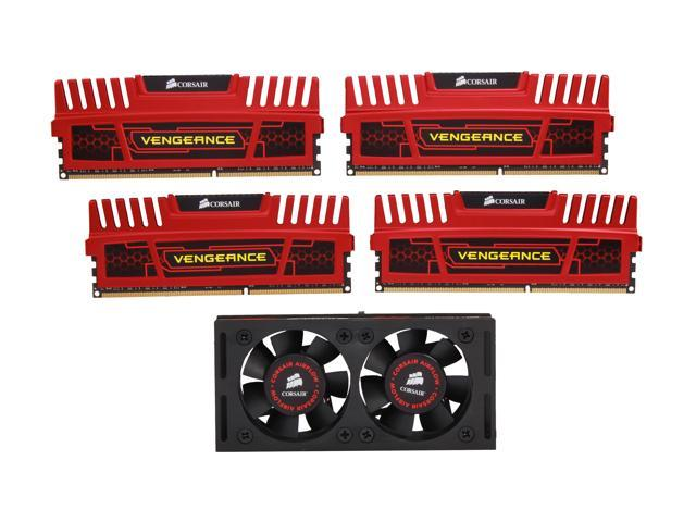 CORSAIR Vengeance 16GB (4 x 4GB) 240-Pin DDR3 SDRAM DDR3 2400 Desktop Memory Model CMZ16GX3M4A2400C9R