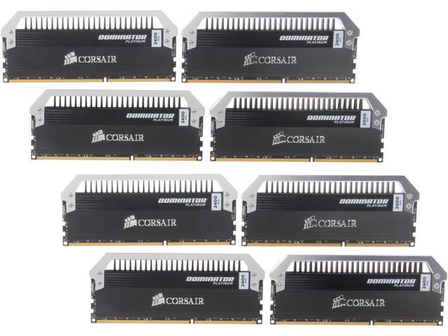 CORSAIR Dominator Platinum 64GB (8 x 8GB) 240-Pin DDR3 SDRAM DDR3 2400 (PC3 19200) Desktop Memory Model CMD64GX3M8A2400C10