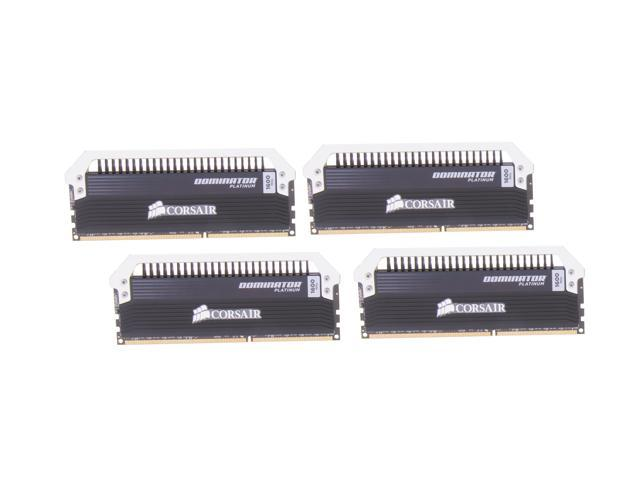 CORSAIR Dominator Platinum 32GB (4 x 8GB) 240-Pin DDR3 SDRAM DDR3 1600 (PC3 12800) Desktop Memory Model CMD32GX3M4A1600C10