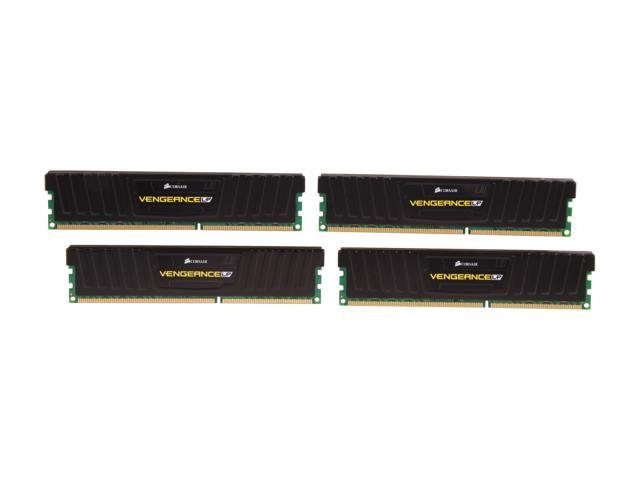 CORSAIR Vengeance LP 32GB (4 x 8GB) 240-Pin DDR3 SDRAM DDR3 1866 (PC3 14900) Desktop Memory Model CML32GX3M4A1866C10