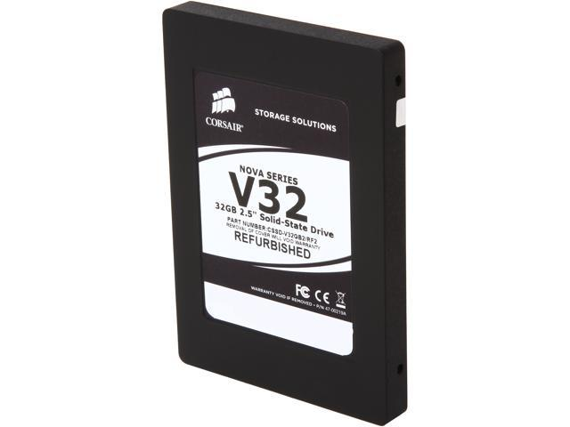 "Manufacturer Recertified Corsair Nova 2.5"" 32GB SATA II Internal Solid State Drive (SSD) CSSD-V32GB2/RF2"