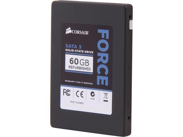 "Manufacturer Recertified Corsair Force Series 3 2.5"" 60GB SATA III Internal Solid State Drive (SSD) CSSD-F60GB3A/RF2"