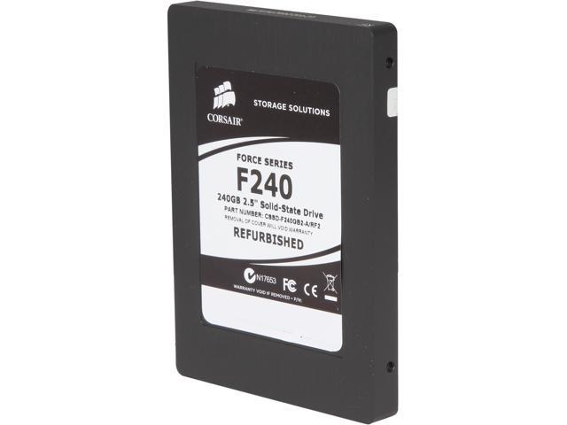 "Manufacturer Recertified Corsair Force 2.5"" 240GB SATA II MLC Internal Solid State Drive (SSD) CSSD-F240GB2-A/RF2"