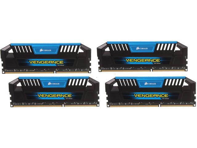 CORSAIR Vengeance Pro 32GB (4 x 8GB) 240-Pin DDR3 SDRAM DDR3 1600 (PC3 12800) Desktop Memory Model CMY32GX3M4A1600C9B