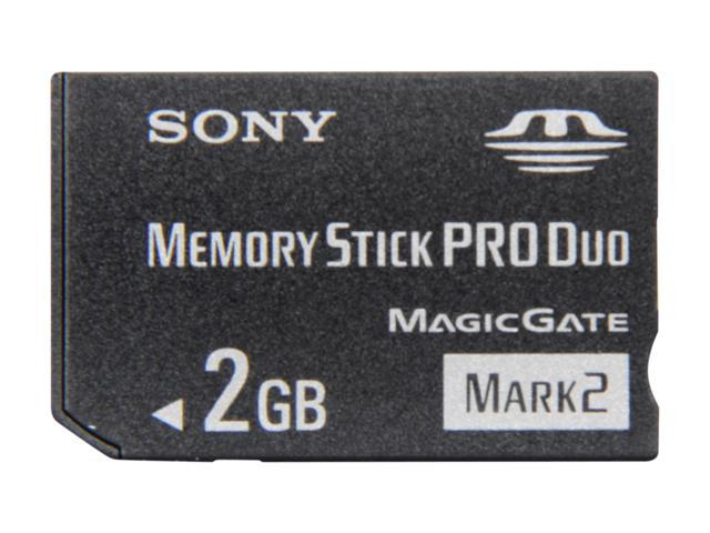 SONY 2GB Memory Stick Pro Duo (MS Pro Duo) Flash Card Model MSMT2G/TQ1
