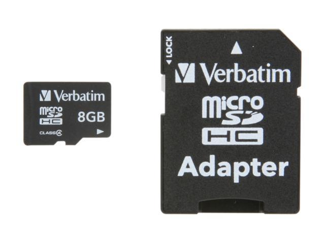 Verbatim 8GB microSDHC Flash Card Model 96807