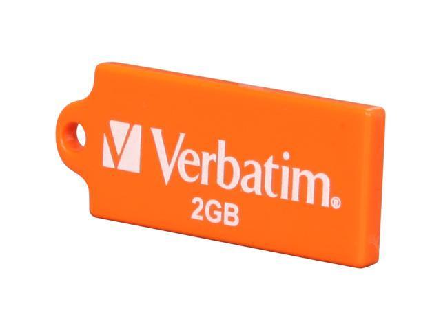Verbatim TUFF-'N'-TINY 2GB Flash Drive (USB2.0 Portable / Orange) Model 96814