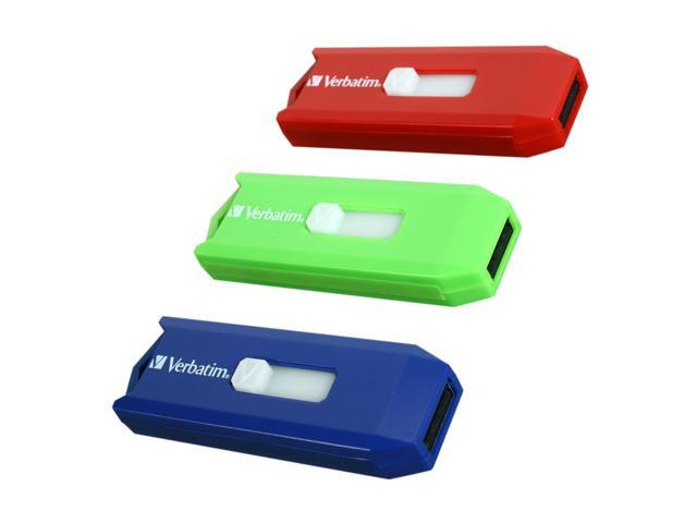 Verbatim Store 'n' Go 6GB (2GB x 3) USB 2.0 Flash Drive - 3pk of Assorted Colors Model 96981