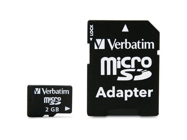 Verbatim 2GB MicroSD Flash Card Model 96168