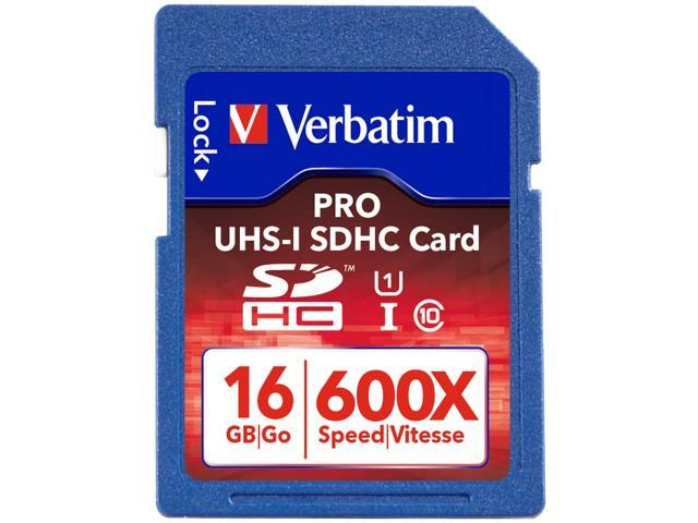 Verbatim PRO 16GB Secure Digital High-Capacity (SDHC) Flash Card