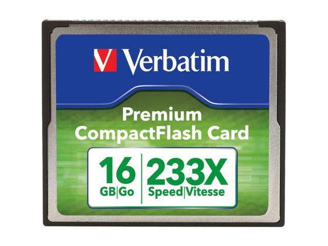 Verbatim Premium 16 GB CompactFlash (CF) Card - 1 Card/1 Pack