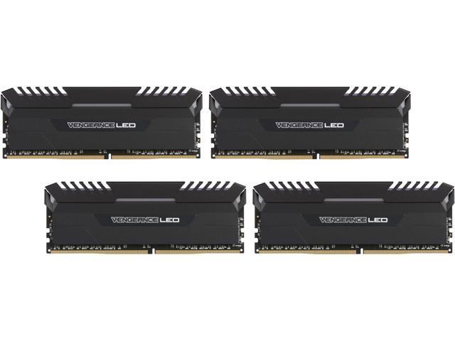 CORSAIR Vengeance LED 32GB (4 x 8GB) 288-Pin DDR4 SDRAM DDR4 3200 (PC4 25600) Desktop Memory Model CMU32GX4M4C3200C16