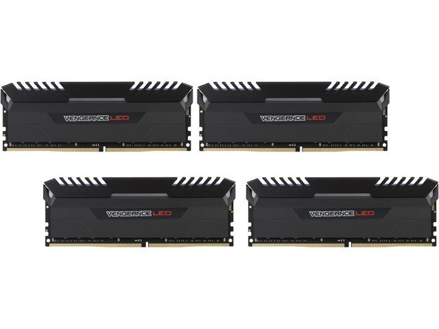 CORSAIR Vengeance LED 64GB (4 x 16GB) 288-Pin DDR4 SDRAM DDR4 2666 (PC4 21328) Desktop Memory Model CMU64GX4M4A2666C16R