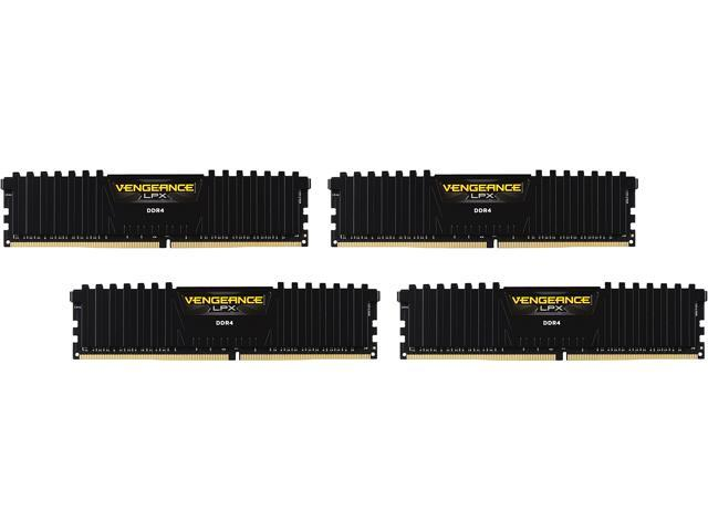 CORSAIR Vengeance LPX 32GB (4 x 8GB) 288-Pin DDR4 SDRAM DDR4 3400 (PC4 27200) Desktop Memory Model CMK32GX4M4C3400C16