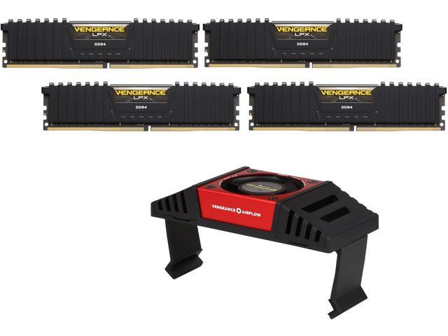 CORSAIR Vengeance LPX 64GB (4x16GB) DDR4 3600 (PC4-28800) C18 With Airflow for Intel 200 - Black