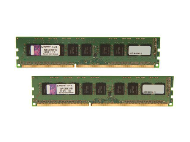 Kingston 16GB (2 x 8GB) 240-Pin DDR3 SDRAM ECC Unbuffered DDR3 1333 Server Memory Intel Model KVR13E9K2/16I