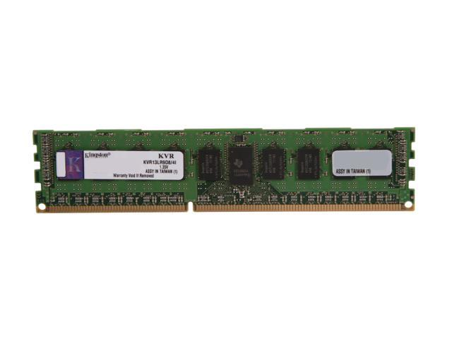 Kingston 4GB 240-Pin DDR3 SDRAM ECC Registered DDR3 1333 (PC3 10600) Server Memory DR x8 1.35V Intel Model KVR13LR9D8/4I