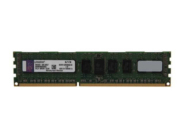 Kingston 4GB 240-Pin DDR3 SDRAM ECC Registered DDR3 1333 Server Memory DR x8 Intel Model KVR13R9D8/4I