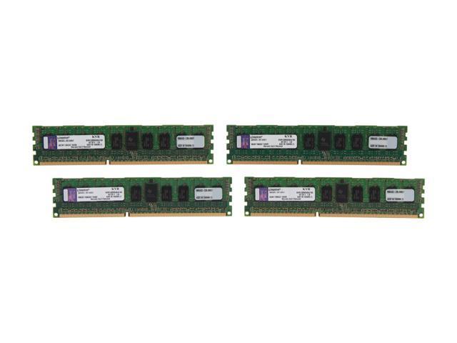 Kingston 16GB (4 x 4GB) 240-Pin DDR3 SDRAM ECC Registered DDR3 1333 Server Memory SR x4 Intel Model KVR13R9S4K4/16I