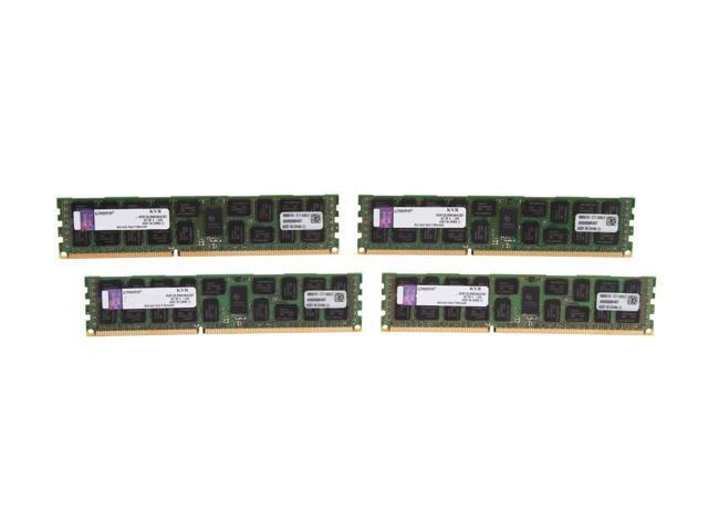 Kingston ValueRAM 32GB (4 x 8GB) 240-Pin DDR3 SDRAM ECC Registered DDR3 1333 Server Memory DR x4 1.35V Intel Model KVR13LR9D4K4/32I