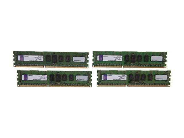 Kingston 16GB (4 x 4GB) 240-Pin DDR3 SDRAM ECC Registered DDR3 1600 (PC3 12800) Server Memory DR x8 Model KVR16R11D8K4/16