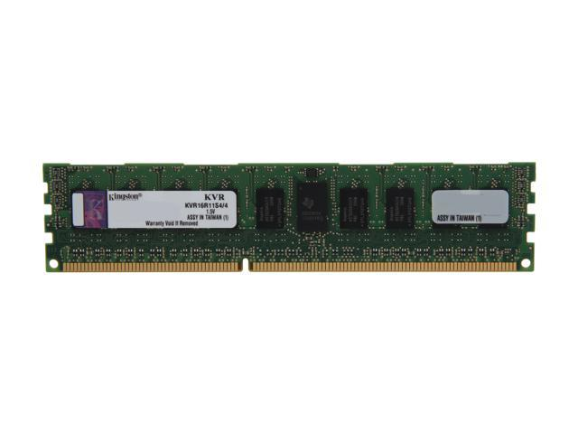 Kingston 4GB 240-Pin DDR3 SDRAM ECC Registered DDR3 1600 (PC3 12800) Server Memory SR x4 Model KVR16R11S4/4