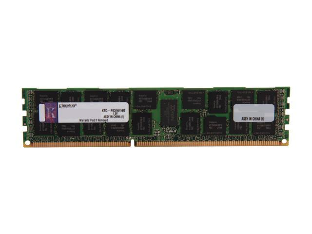 Kingston 16GB DDR3 1600 (PC3 12800) ECC Registered System Specific Memory Model KTD-PE316/16G