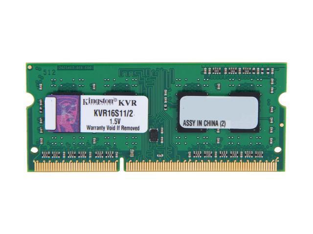 Kingston 2GB 204-Pin DDR3 SO-DIMM DDR3 1600 Laptop Memory Model KVR16S11/2