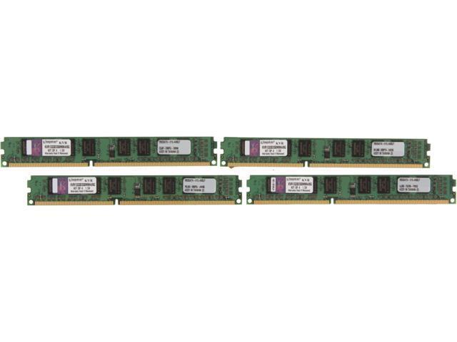 Kingston ValueRAM 8GB (4 x 2GB) 240-Pin DDR3 SDRAM DDR3 1333 (PC3 10600) Desktop Memory
