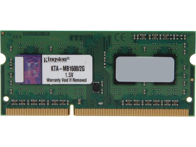 Kingston 2GB 204-Pin DDR3 SO-DIMM DDR3 1600 Memory for Apple Model KTA-MB1600/2G