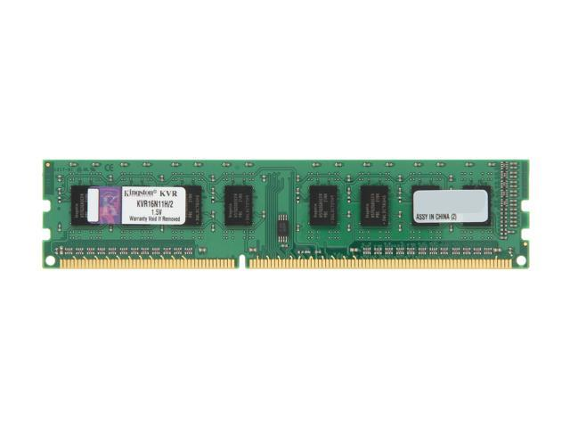 Kingston 2GB 240-Pin DDR3 SDRAM DDR3 1600 Desktop Memory STD Height 30mm Model KVR16N11H/2