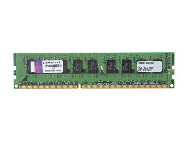 Kingston 2GB 240-Pin DDR3 SDRAM ECC Unbuffered DDR3 1066 Server Memory SR x8 w/TS Model KVR1066D3S8E7S/2G