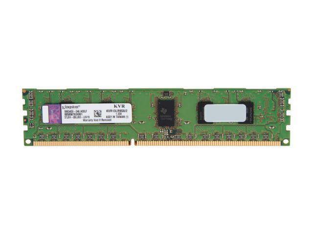 Kingston ValueRAM 2GB 240-Pin DDR3 SDRAM ECC Registered DDR3 1333 Server Memory SR x8 1.35V w/TS Model KVR13LR9S8/2