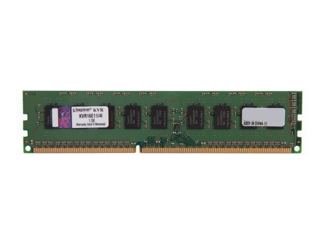 Kingston 4GB 240-Pin DDR3 SDRAM ECC Unbuffered DDR3 1600 Server Memory w/TS Intel Model KVR16E11/4I
